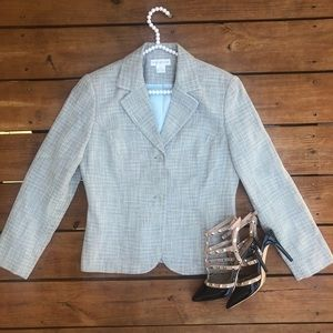 Worthington Gray Tweed Blazer